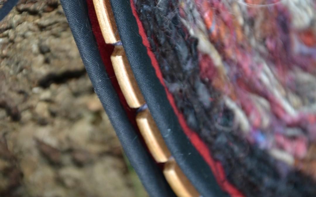 Pochette en tissage circulaire